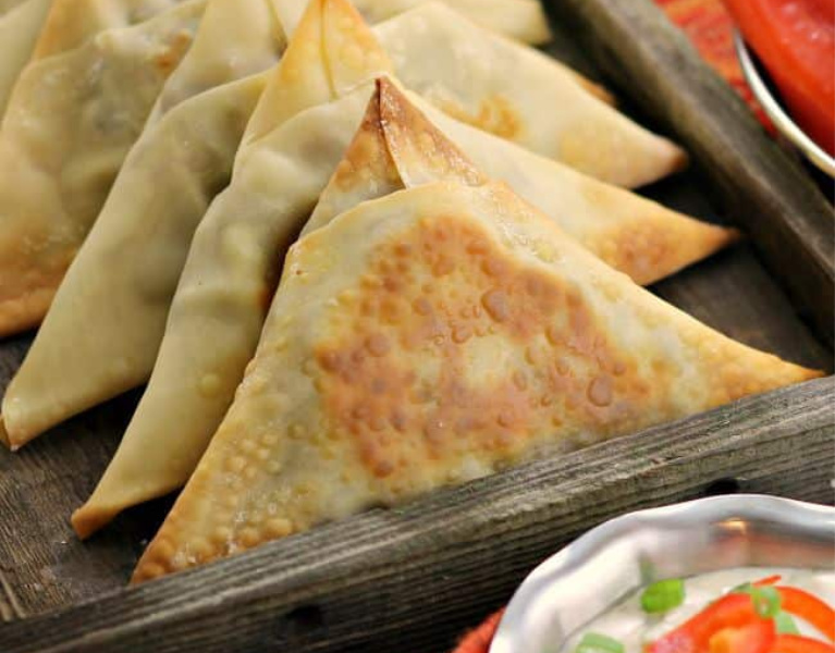 Spicy Vegetable Samosas